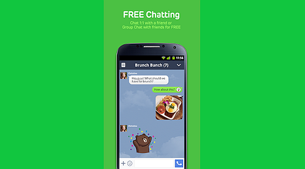 Enjoy LINE in your new Samsung Galaxy S5